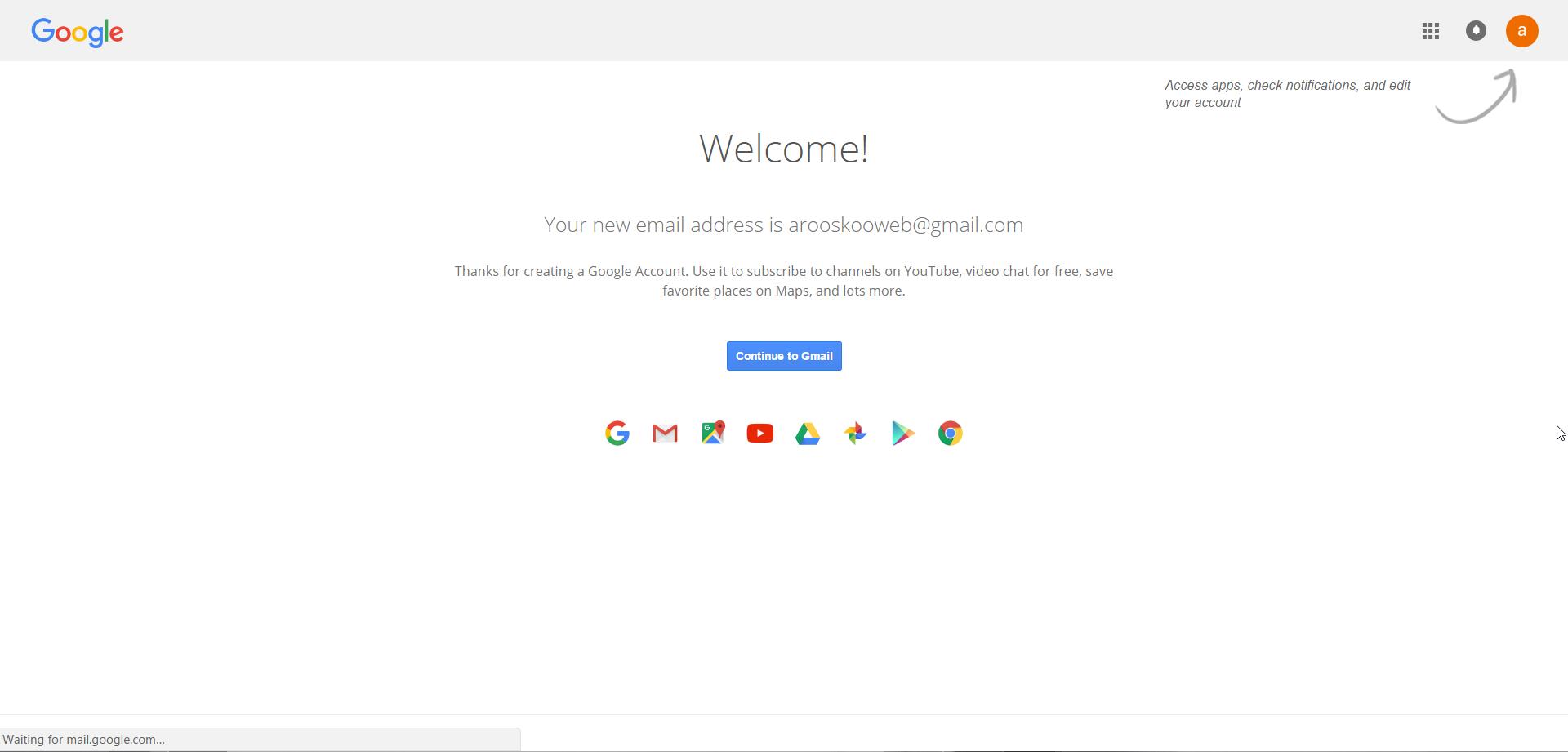 صفحه خوش آمد گویی گوگل