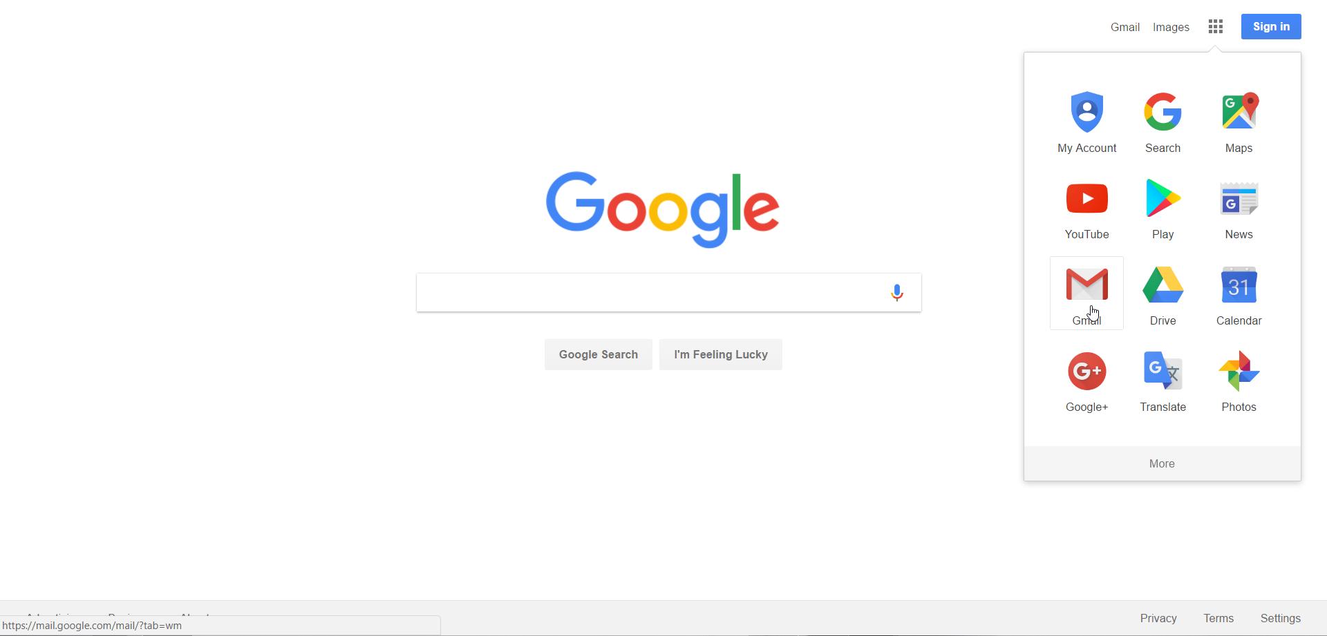 آموزش تصویری ورود به گوگل و باز کردن منوها و ورود به gmail