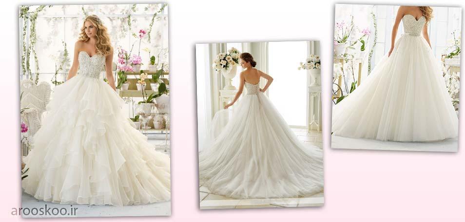 مدل لباس عروس های پرنسسی ، به همراه عکس عروس