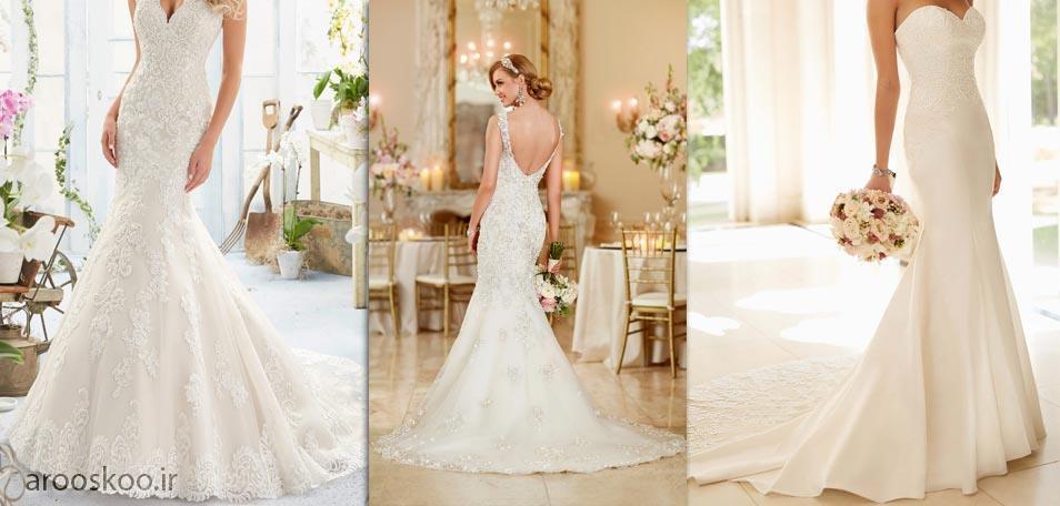 لباس عروس مدل ماهی پایین پف دار بسیار زیبا