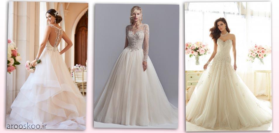 مدل های لباس عروس پرنسسی ، مدل های مختلف پرنسسی