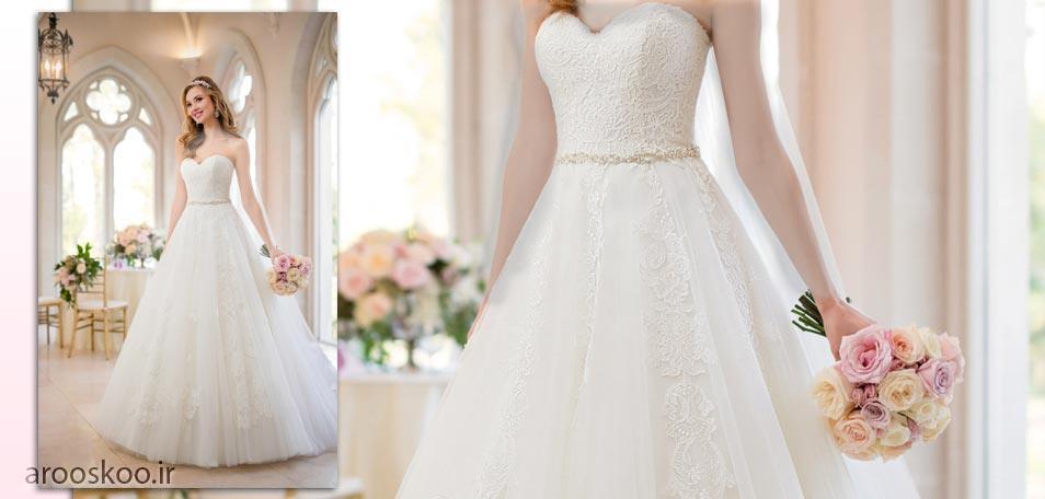 نمونه ای از مدل برگزیده کالکشن 2018 لباس عروس، مدل اسکارلت